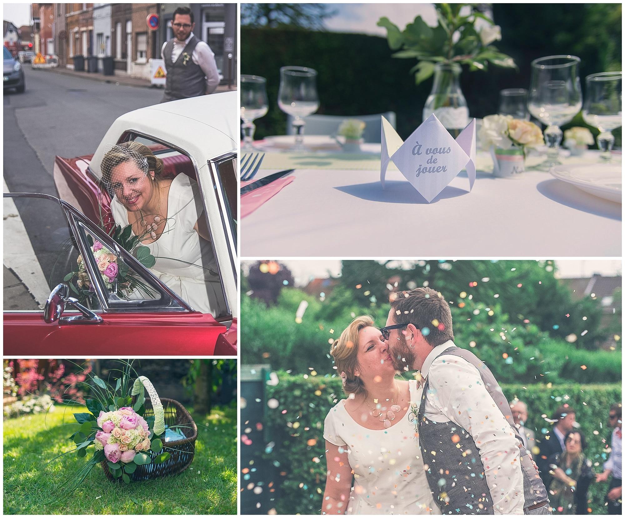 Mariage,jouy le moutier,justmphotographes,mustang,région parisienne,rétro,