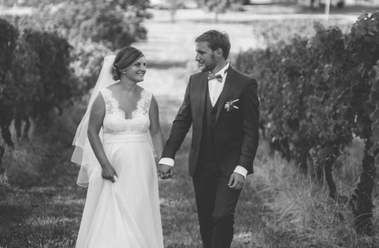 un mariage champêtre au coeur du vignoble